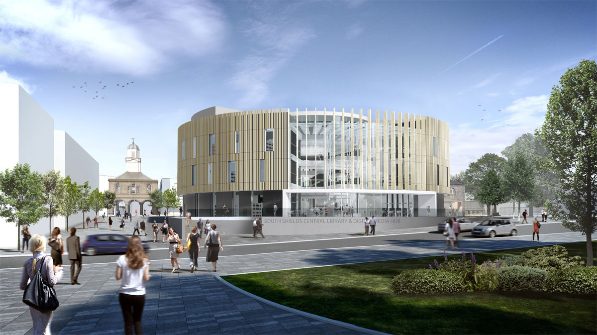 CGI of new library