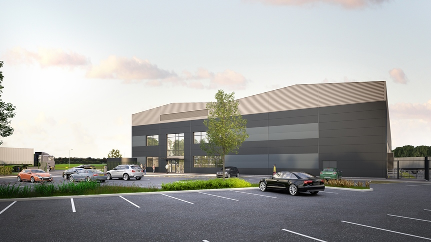 CGI of John Lewis customer delivery hub at Logic Leeds