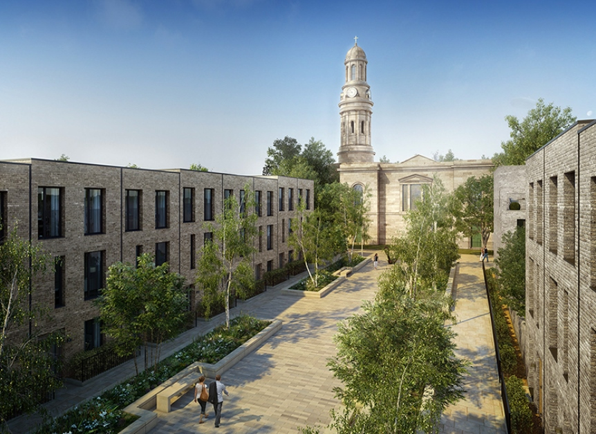 CGI of townhouses
