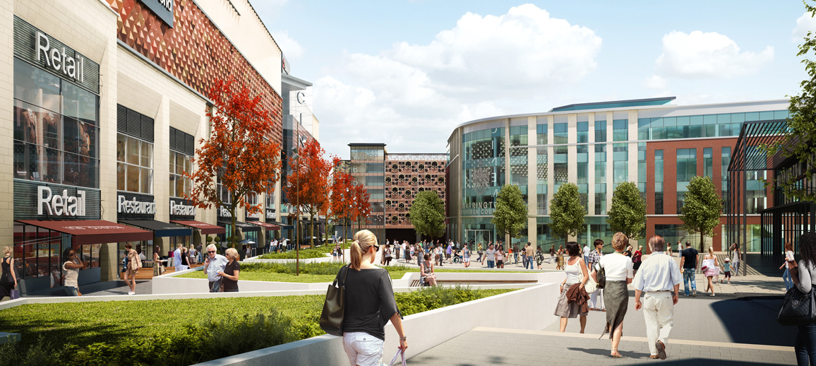 Time Square, Warrington (CGI)