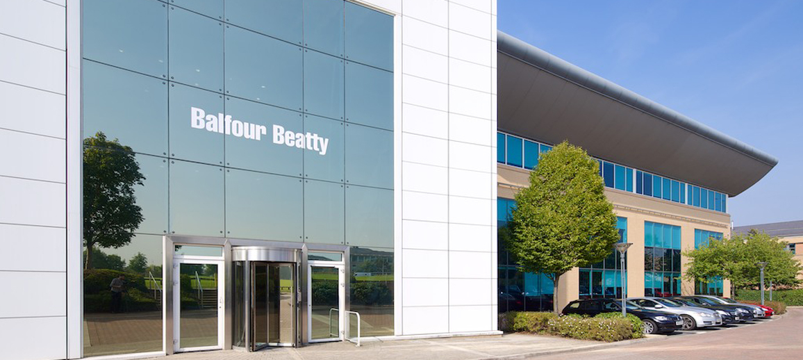 Balfour Beatty's Lakeside building at Cheadle Royal