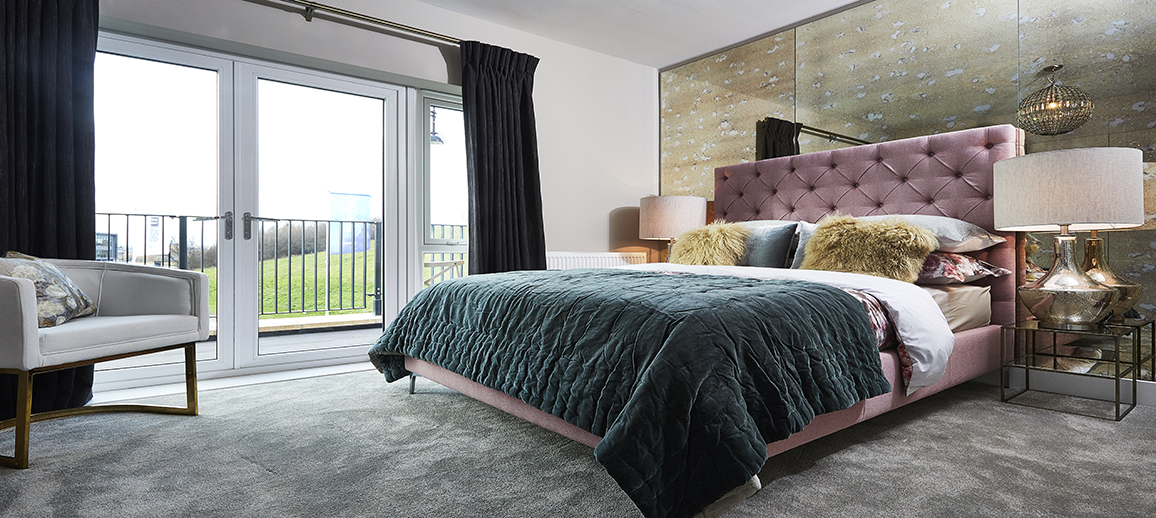 Infinity Riverside - Show home bedroom