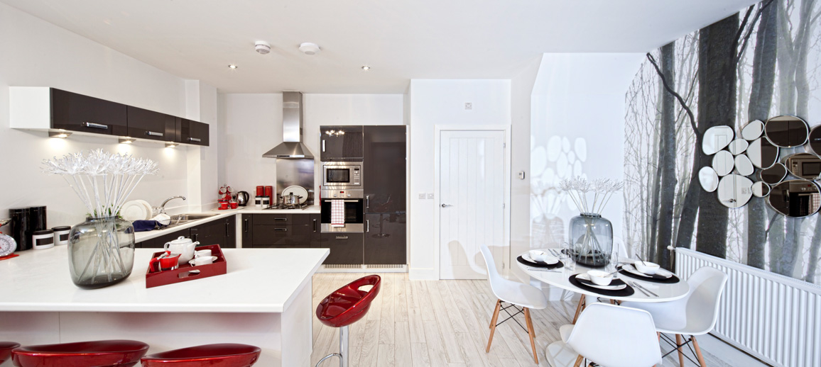 Photo of the show home kitchen-dining room at Vivo, Northshore