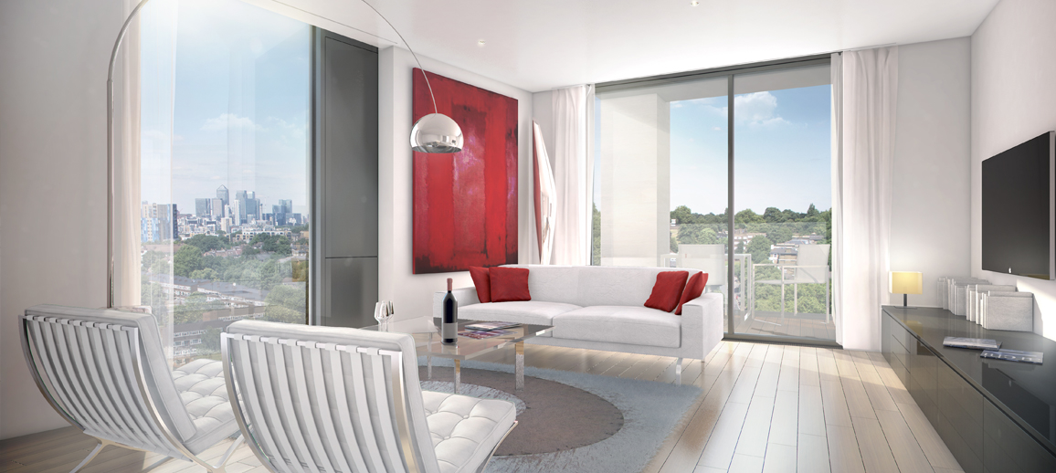 Portrait apartment interior (CGI)