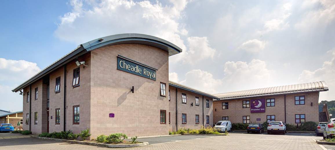 Premier Inn hotel at Cheadle Royal