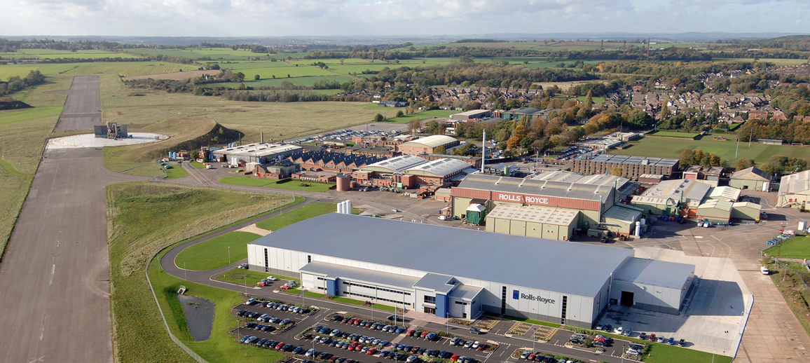Aerial photo of Rolls-Royce Hucknall