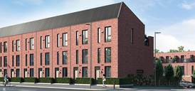 Computer generated image of Carpino Place, Salford