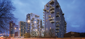 Lumire, Canning Town - A13 view (CGI)