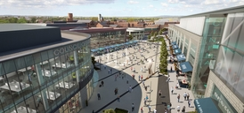 CGI of Warrington Bridge Street Quarter
