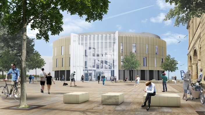 CGI of library